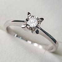 Золотое кольцо с бриллиантами 0.30Сt SI2/K, VG - Cut, фото 1