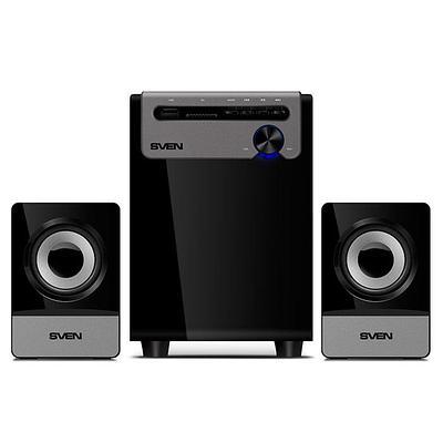 Акустическая система SVEN MS-110 (10 Вт, USB/SD), Black (014056)