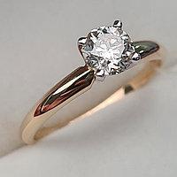 Сертификат GIA 0,56Сt SI1/M Good-Cut Золотое 585 пр. кольцо с бриллиантом