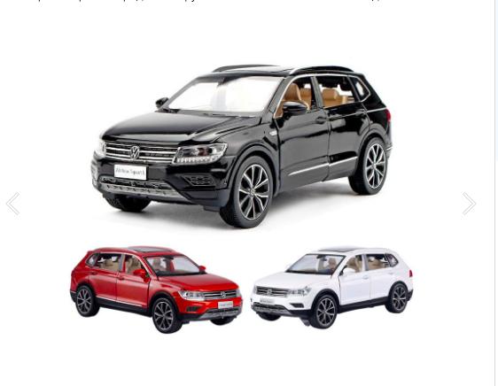 Коллекционная машинка Volkswagen Tiguan L металлическая модель в масштабе 1:32 - фото 6