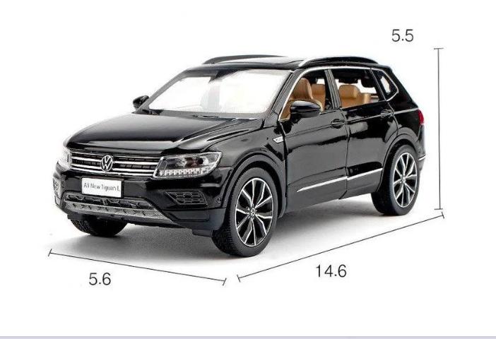 Коллекционная машинка Volkswagen Tiguan L металлическая модель в масштабе 1:32 - фото 5