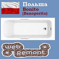 Акриловая ванна Banoperito Leon 170x70 с ручками (Ванна + ножки). Польша
