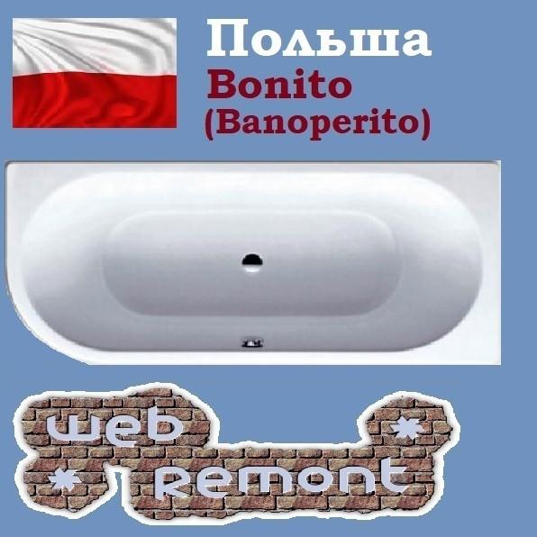 Акриловая ванна Banoperito Vella 170x72.5 R (Ванна + ножки). Польша