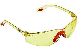 Очки ЗУБР Спектр 3 110316 Желтые, защитные открытого типа, двухкомпонентные дужки