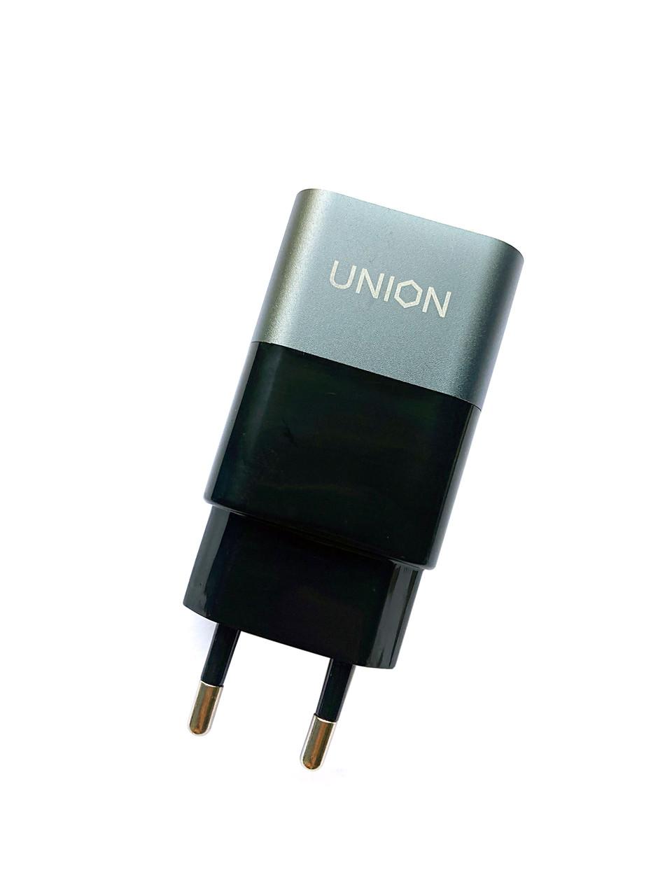 Сетевой USB-адаптер (зарядка) Union Qualcomm Quick Charge 3.0, 1x USB, индикатор заряда