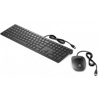 Клавиатура и мышь HP 4CE97AA Wired Keyboard and Mouse 400 Black USB