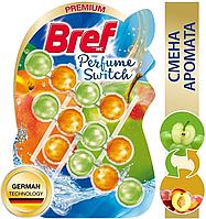 Подвесной туалетный блок Bref Perfume Switch, сочный персик - яблоко, 3х50г