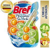 Подвесной туалетный блок Bref Perfume Switch, сочный персик - яблоко, 2х50г