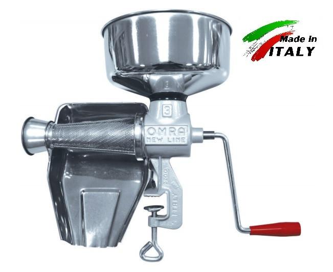 Соковыжималка New Omra OM-2200-E ручная механическая шнековая для отжима сока из томатов, ягод, фруктов овощей