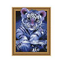 Картина 3D мозаика с нанесенной рамкой (40х50) УЧУСЬ ПЛАВАТЬ (23 цвета)