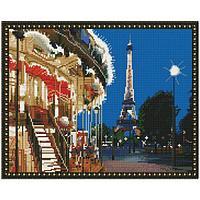 Картина мозаикой с нанесенной рамкой (40х50) ВЕЧЕРНИЙ ПАРИЖ (36 цветов)