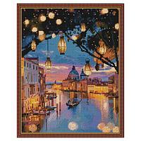 Картина мозаикой с нанесенной рамкой (40х50) НОЧНАЯ ВЕНЕЦИЯ (36 цветов)