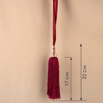 Кисть для штор «Камила», 60 ± 1 см, цвет бордовый