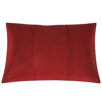 Автомобильная подушка, поясничный подпор, экокожа, рыжая