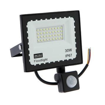 Прожектор светодиодный Luazon Lighting 30 Вт, 2700 Лм, 6500К, Датчик движения, IP66