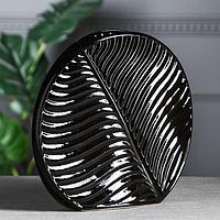 """Ваза настольная """"Пальма"""", чёрная, керамика, 28*31 см"""