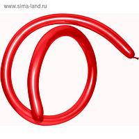 Шар для моделирования 160, стандарт, пастель, красный, набор 100 шт.