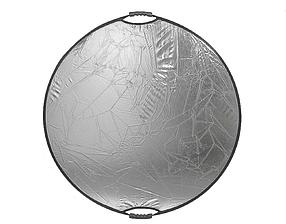 Отражатель (лайт - диск) 80см с ручкой 5 в 1 - золото, серебро, белый, чёрный, рассеиватель