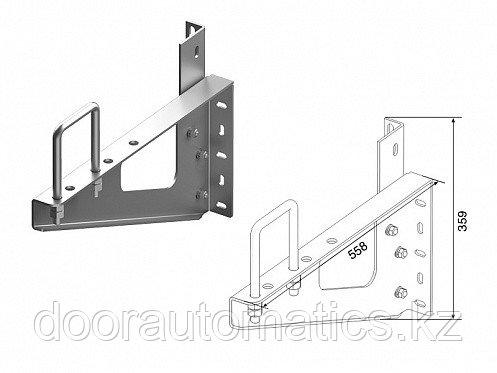 Кронштейн выносной (вал снизу) для монтажа торсионного механизма на трубе 100х100
