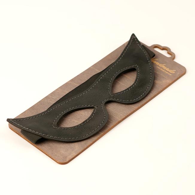 Открытая маска из натуральной кожи, острая