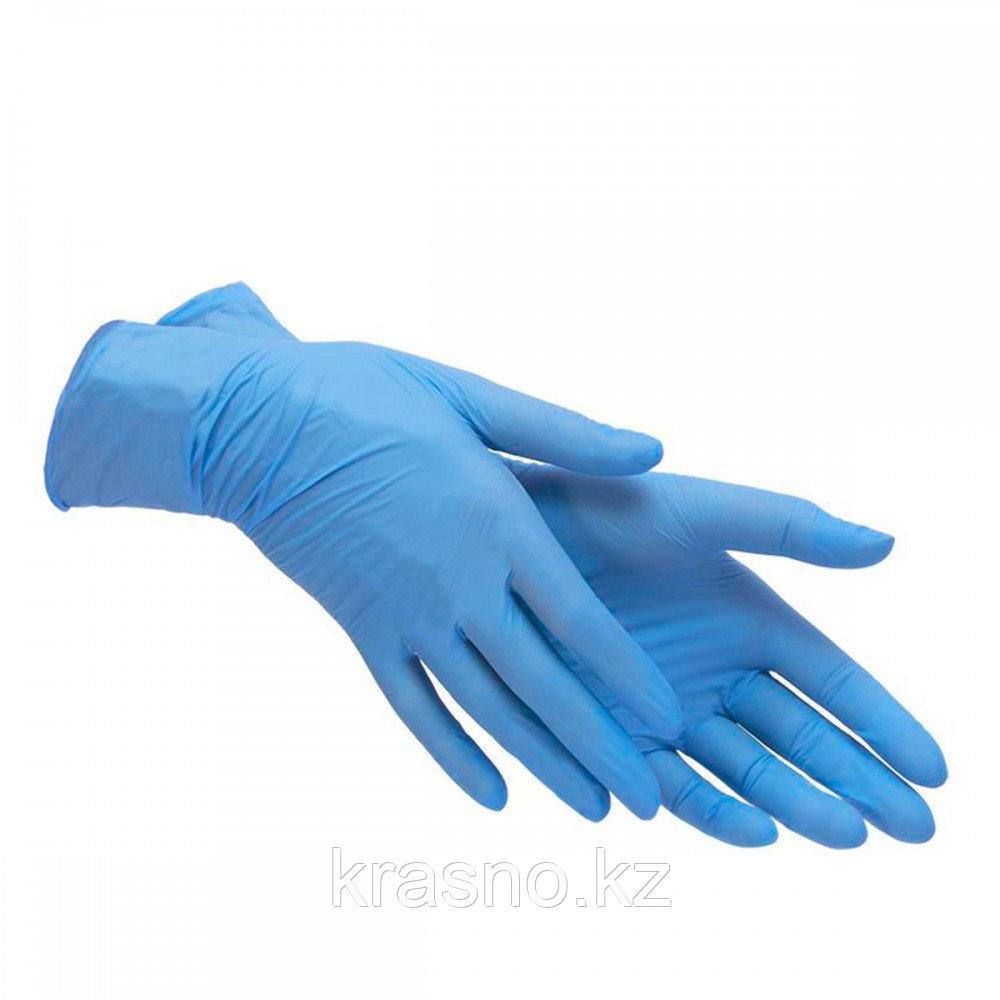 Перчатки XS 200шт нитрил Varda голубые - фото 2