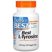 L-тирозин, 500 мг, 120 вегетарианских капсул, Doctor's Best