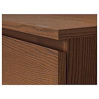 MALM МАЛЬМ Комод с 6 ящиками, коричневая морилка ясеневый шпон 80x123 см, фото 2