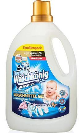 Гель DER WASCHKONIG C.G. Sensitive для стирки детских вещей 3.305, фото 2