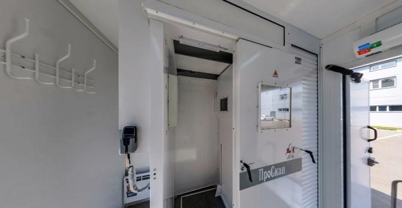 Кабинет флюорографический подвижной с цифровым флюорографом КФП-Ц-РП на базе прицепа специального
