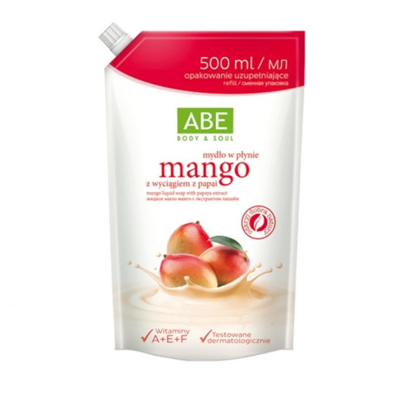 ABE Жидкое мыло манго с экстрактом папайи саше 500 ml