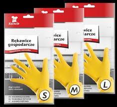 Хозяйственные перчатки, Kuchcik, Латекс, Желтый, фото 2