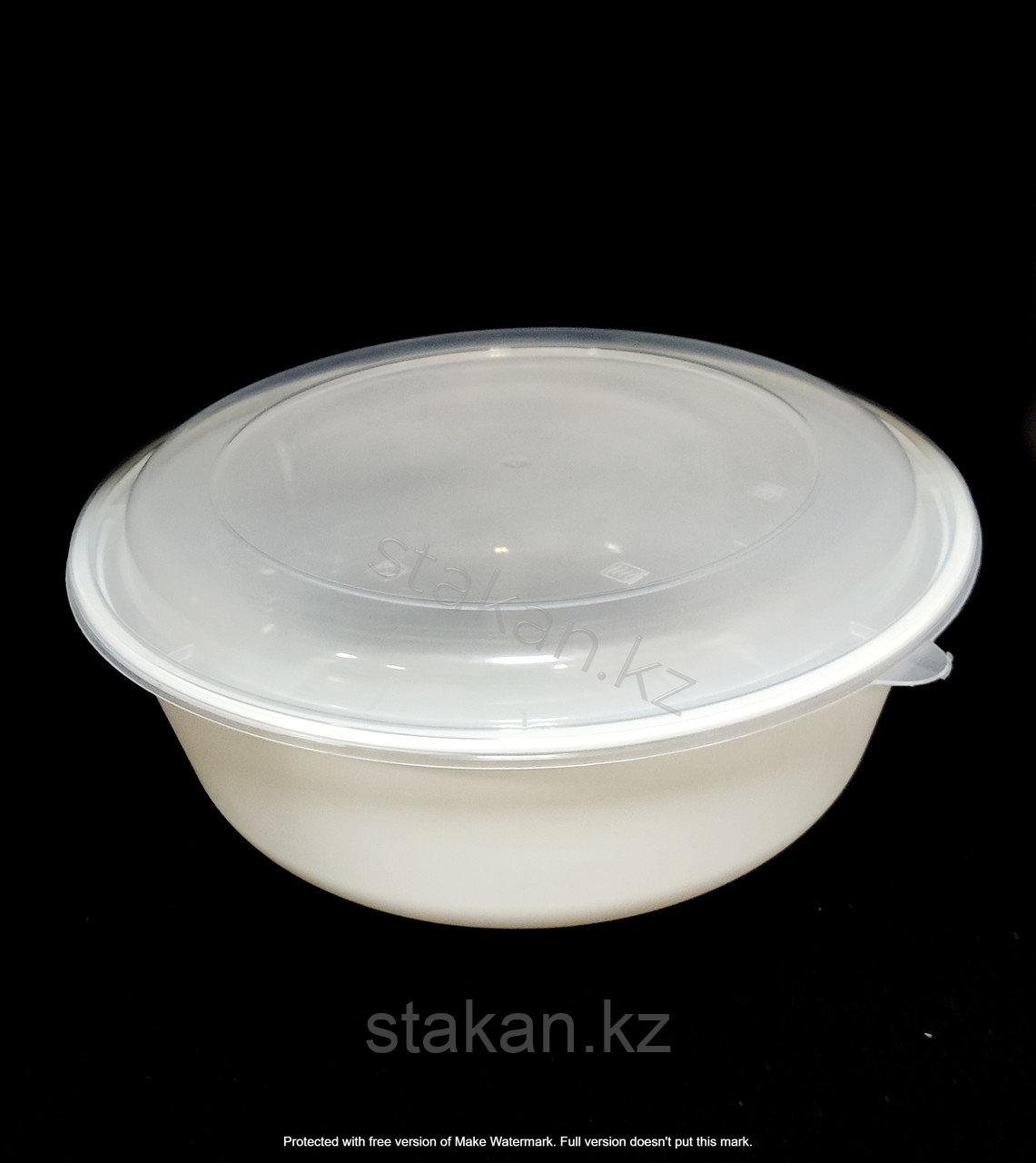 Контейнер круглый с крышкой (Супница 2500мл) БЕЛЫЙ