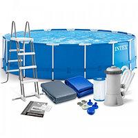 Каркасный бассейн Intex Metal Frame Pool 457x122