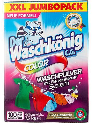 Стиральный порошок Waschkönig Color 7.5 кг, фото 2