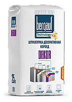 "DECOR, Штукатурка декоративная ""короед"", Белый, 25 кг, Bergauf, фото 2"