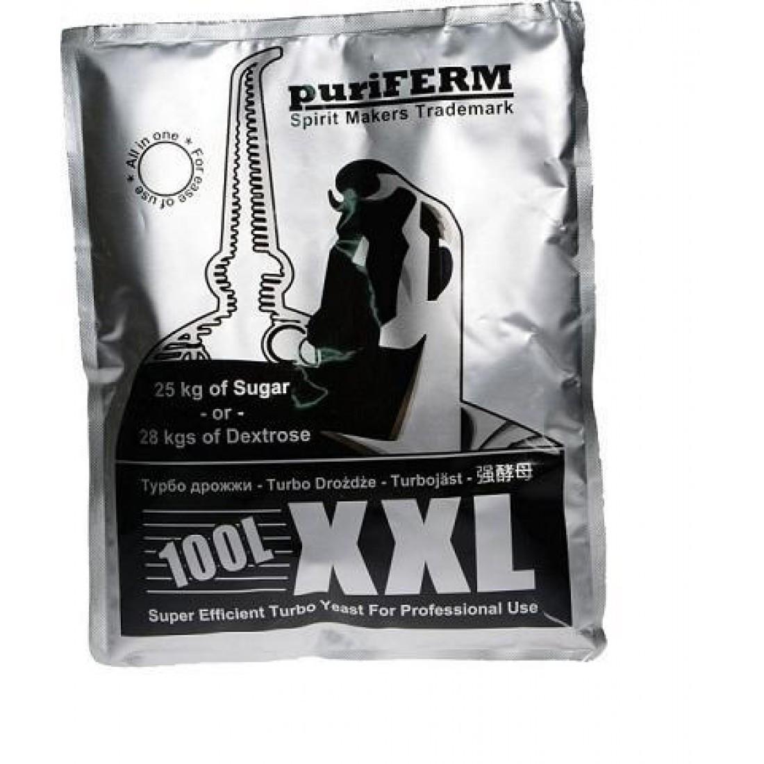 Дрожжи спиртовые турбо Пуриферм на 100 литров UK-XXL, 350гр