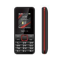 Мобильный телефон Texet TM-207 черный-красный