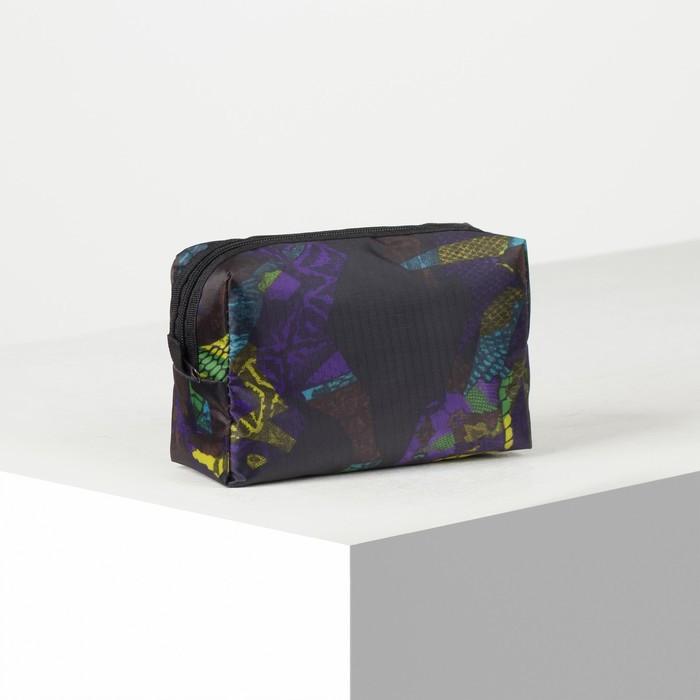 Косметичка дорожная, отдел на молнии, с подкладом, цвет хамелеон