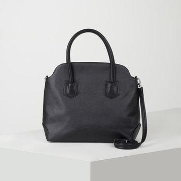 Сумка-шопер, отдел на молнии, наружный карман, регулируемый ремень, цвет чёрный
