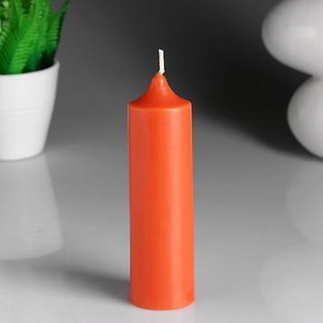 """Свеча- цилиндр """"Сочный апельсин"""" ароматическая, 4×13,5 см"""