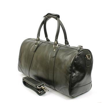 Дорожная сумка 50×20×25 см, плечевой ремень, чёрная фантазия