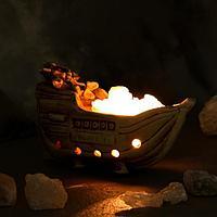 """Соляная лампа """"Кораблик керамический"""", 19 см × 8 см × 10,5 см"""