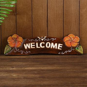 "Ключница ""Welcome"" дерево 50х13х1,5 см"