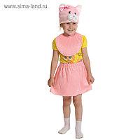 """Карнавальный костюм """"Кошечка розовая"""", плюш лайт, рост 92-116 см"""