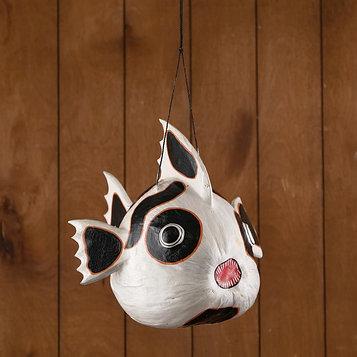 """Сувенир из кокоса """"Рыбка-панда"""" подвесной 33х26х26 см"""