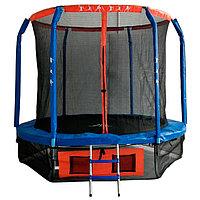 Батут DFC JUMP BASKET 8 ft, d=244 cм, внутренняя сетка, лестница