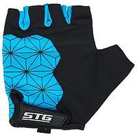 Перчатки велосипедные STG, Replay unisex цвет черный,синий, размер L