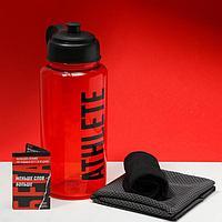 Набор спортивный Run для бега: бутылка, полотенце, носки one size, календарь тренировок