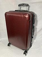 """Средний пластиковый дорожный чемодан на 4-х колесах""""Longstar"""".Высота 64 см, ширина 41 см, 25 см., фото 1"""
