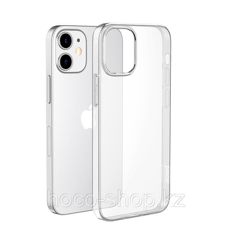 """Защитный гелевый чехол для iPhone 12 mini Hoco """"Light series"""", прозрачный"""